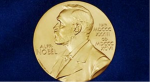 The medal that is awarded to Nobel Peace Prize Winners. Photo courtesy of the Nobel Prize