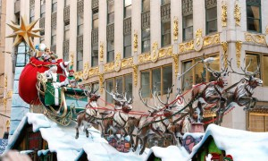 Santa Claus ends the Macy's Thanksgiving Day Parade. Photo courtesy of Zimbio