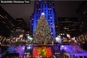 The annual tree lighting at Rockefeller Center. Photo courtesy of Hollywood Life