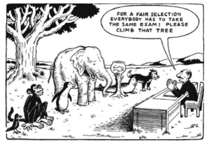 How is testing all of these different animals the same? It is done to students every year. Photo courtesy of Buffalo