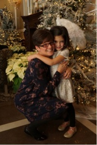 Mrs. Caufield and her daughter share an embrace. Photo courtesy of Olivia Cantarella'18