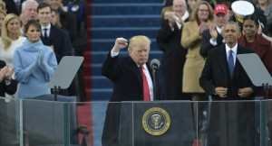 President Trump giving his inaugural speech. Photo courtesy of Politico