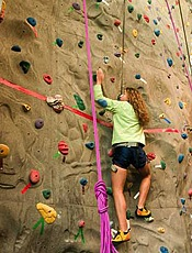 The addition of student activities like rock climbing walls has driven up the tuition rate. Photo courtesy of Bloomsburg University