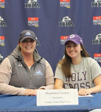 Maggie Cooney'18 and her coach